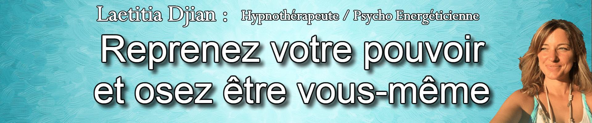 bannière Laetitia Djian avec phrase